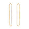 Long Marquis Earrings | Yellow Gold