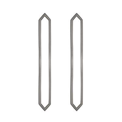 Long Marquis Earrings | Black Gold