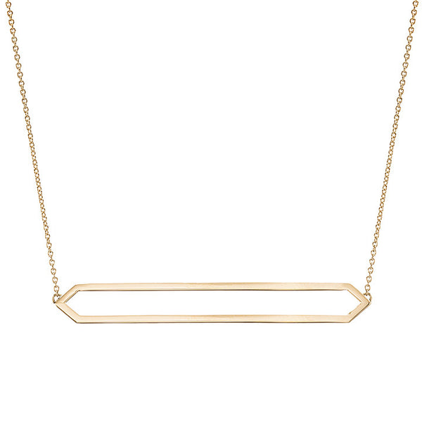 Long Marquis Necklace | 14K Yellow Gold