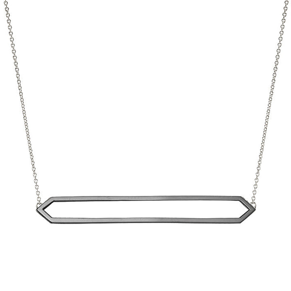 Long Marquis Necklace | 14K Black Gold