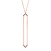 Marquis Lariat | Rose Gold with Black Diamonds on Points
