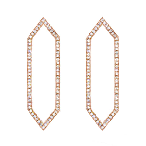 Diamond Marquis Earrings | Rose Gold