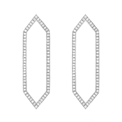 Diamond Large Marquis Earrings | White Gold