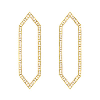 Diamond Large Marquis Earrings | Yellow Gold