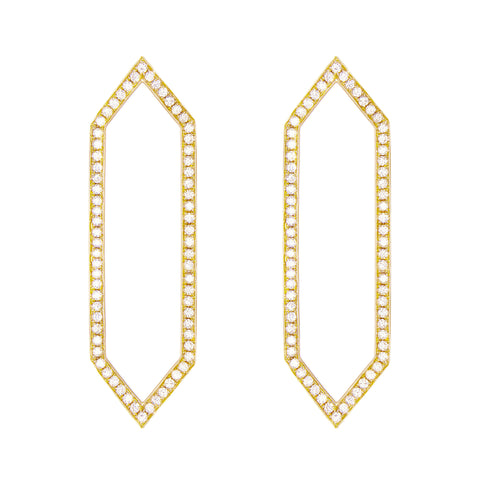 Diamond Marquis Earrings | Yellow Gold