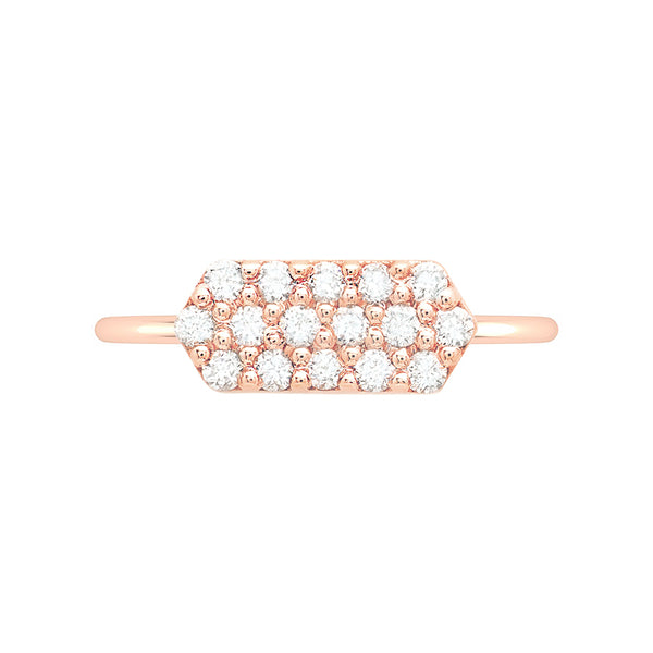 Marquis Geo Stacker | Rose Gold with White Diamonds