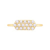 Diamond Marquis Geo Stacker | Yellow Gold