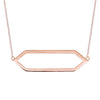 Large Marquis Necklace | Rose Gold