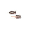 Black Diamond Marquis Studs | Rose Gold