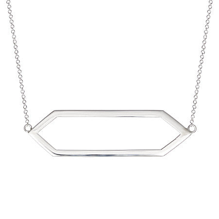 Large Marquis Necklace | White Gold