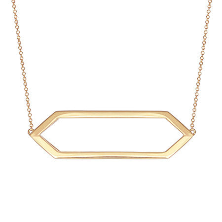 Marquis Necklace | 14K Yellow Gold