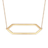 Large Marquis Necklace | Yellow Gold