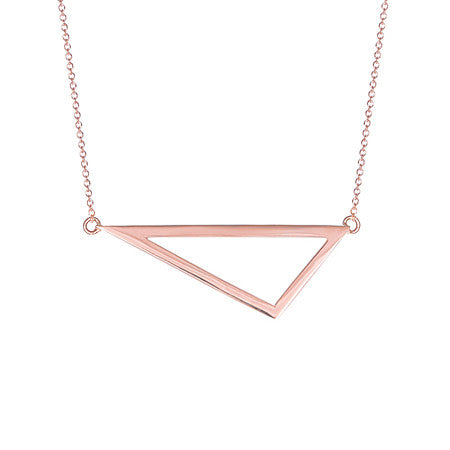 Medium Triangle Necklace | 14K Rose Gold