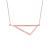Medium Triangle Necklace | Rose Gold