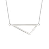 Medium Triangle Necklace | White Gold