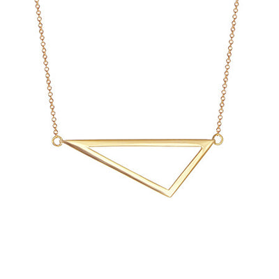Medium Triangle Necklace | Yellow Gold