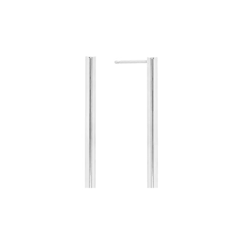 Midi Line Earring | 14K White Gold