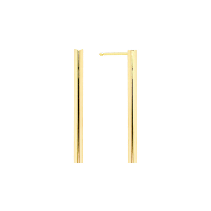 Midi Line Earring | 14K Yellow Gold