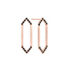 Medium Marquis Earrings | Rose Gold with Black Diamond Points