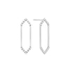 Medium Marquis Earrings | White Gold with Diamond Points