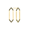 Medium Marquis Earrings | Yellow Gold with Black Diamond Points