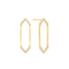 Medium Marquis Earrings | Yellow Gold with Diamond Points