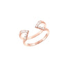 Diamond Dagger Ring - Midi | Rose Gold