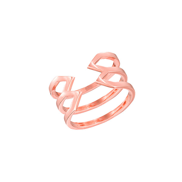 Stacked Dagger Ring - Midi  | 14K Rose Gold