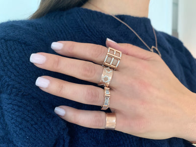 Baguette Cage Band | Yellow Gold