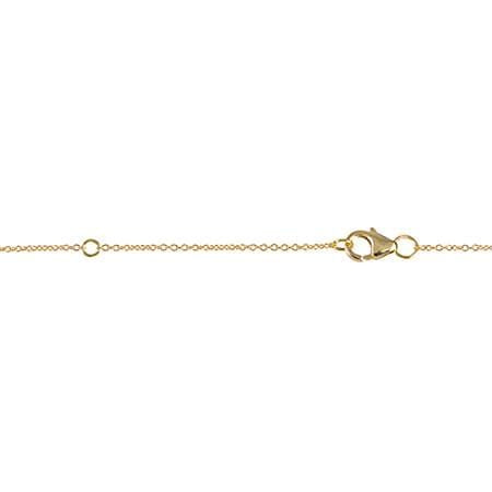 Gear Necklace | Gold with White Diamonds
