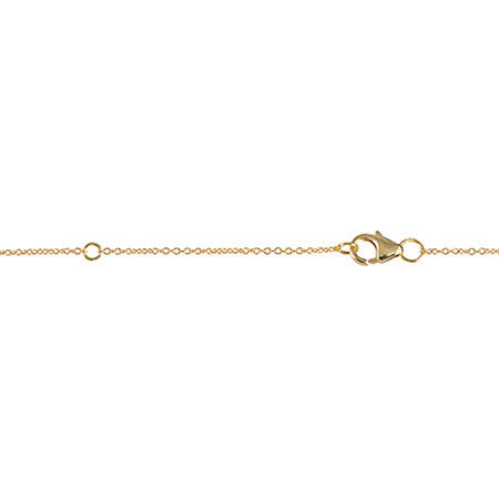 Black Diamond Triangle Necklace | Yellow Gold