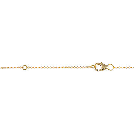 Triangle Necklace | 14K Yellow Gold