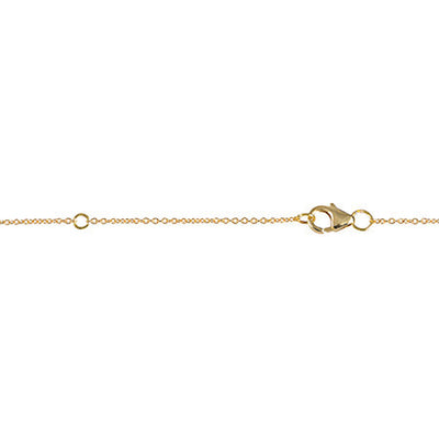 Large Triangle Necklace | Yellow Gold