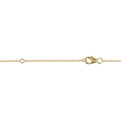 Mini Marquis Necklace | Yellow Gold with Diamonds on Points