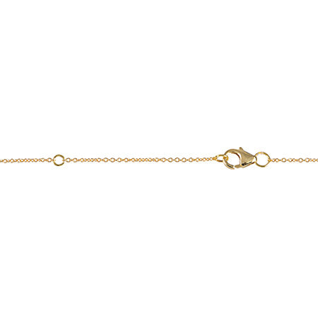 Line Lariat | Gold with Baguette Diamond