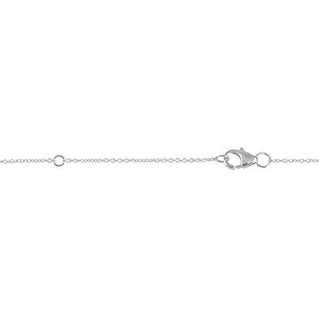 Diamond Medium Triangle Necklace | 14K White Gold