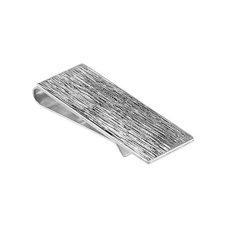 Textured Money Clip  | Sterling Silver