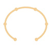 Open Gear Bangle | Yellow Gold