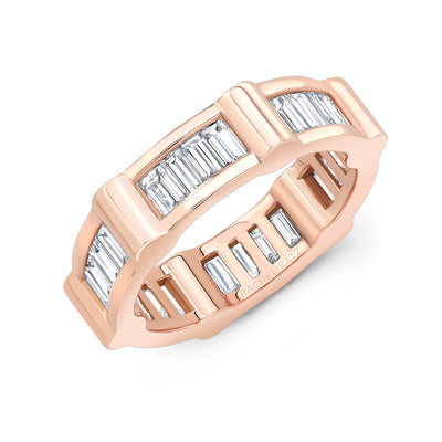 Baguette Cage Band | Rose Gold