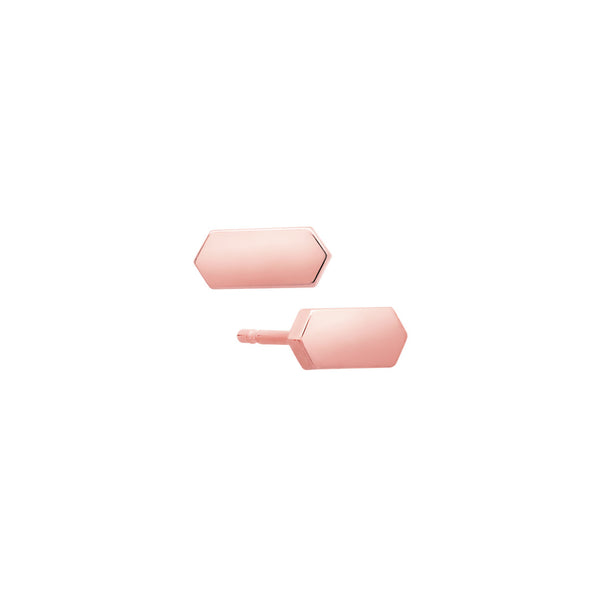Marquis Stud Earrings | 14K Rose Gold