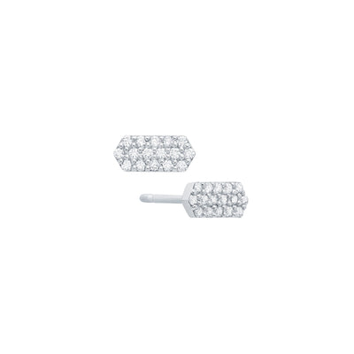 Diamond Marquis Studs | White Gold