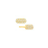 Diamond Marquis Studs | Yellow Gold