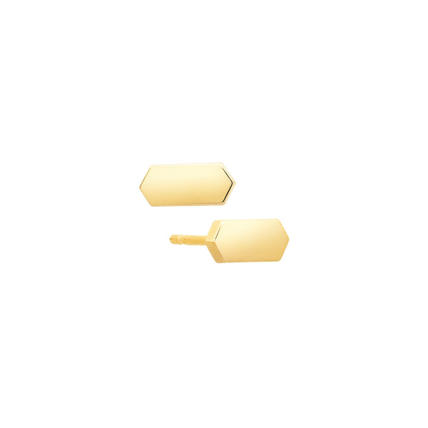 Marquis Stud Earrings | 14K Gold