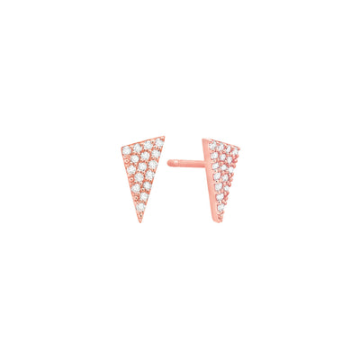 Diamond Triangle Studs | Rose Gold