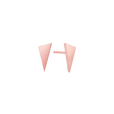 Triangle Studs | Rose Gold