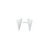 Triangle Studs | White Gold