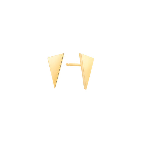 Triangle Stud Earrings | 14K Gold