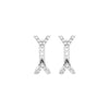 Diamond Dagger Studs with Ear Jackets | White Gold