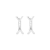 Dagger Studs with Ear Jackets | White Gold