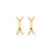 Diamond Dagger Studs with Ear Jackets | Yellow Gold